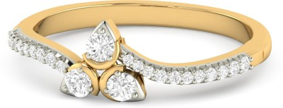 WearYourShine by PC Jewellers The Erleen 18kt Diamond Yellow Gold ring at flipkart