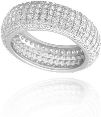 Lucera Fashionable Metal Cubic Zirconia Rhodium Ring