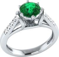 Demira Jewels Dazzling White Gold Emerald, Diamond 14K White Gold Ring best price on Flipkart @ Rs. 17769