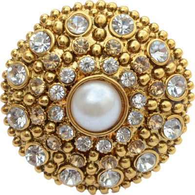 Foppish Mart Alloy Pearl Copper Ring