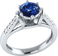Demira Jewels Dazzling White Gold Sapphire, Diamond 14K White Gold Ring best price on Flipkart @ Rs. 17769