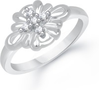 VK Jewels Five Stones Alloy Cubic Zirconia Rhodium Plated Ring