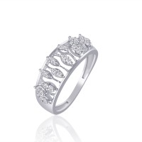 VK Jewels Friendship Alloy Cubic Zirconia Rhodium Plated Ring