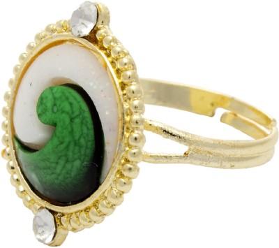 Silverkartz Prong Alloy Cubic Zirconia Rhodium Ring