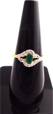 Moh Fashions Brass Cubic Zirconia Ring