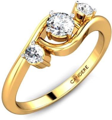 Candere Roselyn 14kt Diamond Yellow Gold ring