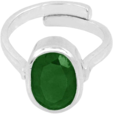jaipur gemstone Silver Emerald Ring at flipkart