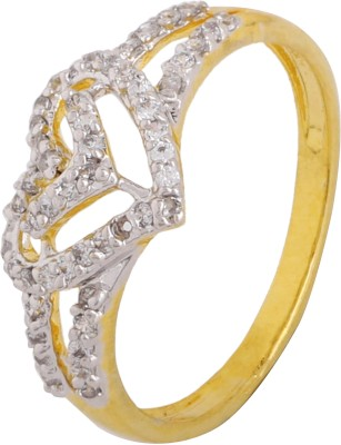 Be You Chic Brass Cubic Zirconia Rhodium Ring