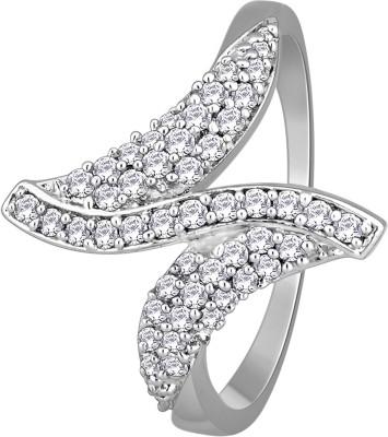 Glitz Design 0.41 CTW Oblique Clusters Cocktail 18kt Diamond White Gold ring