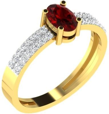 His & Her 18kt Diamond Yellow Gold ring at flipkart
