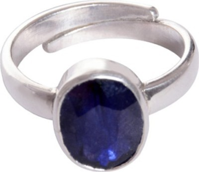 SMS Retail 4.25 Ratti Stone Sapphire Rose Gold Plated Ring at flipkart