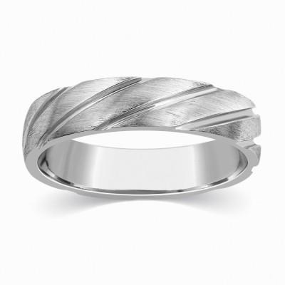 Kama Jewellery Lazzaro Couple Band- His 24 (995)kt Diamond Platinum ring