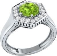Demira Jewels Sparkling Bead White Gold Peridot, Diamond 14K White Gold Ring best price on Flipkart @ Rs. 21041