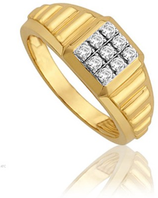 Avsar 18kt Yellow Gold ring at flipkart