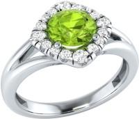 Demira Jewels Alluring White Gold Peridot, Diamond 14K White Gold Ring best price on Flipkart @ Rs. 16671