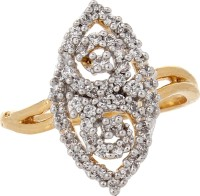 Moda Stella American Diamond 24 Karat Gold Plated Diamond Looking Ladies Ring Brass 24K Yellow Gold, Rhodium Ring best price on Flipkart @ Rs. 199