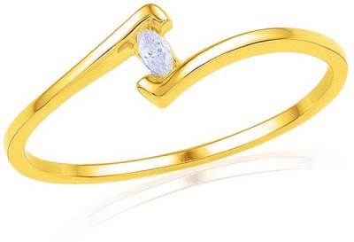 JPearls Venice Diamond 18kt Yellow Gold ring at flipkart