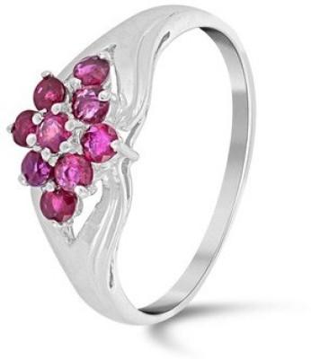 VelvetCase Radiant Rubies Ring Platinum Ruby Ring