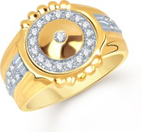 VK Jewels Self Reliant Alloy Cubic Zirconia Yellow Gold Plated Ring