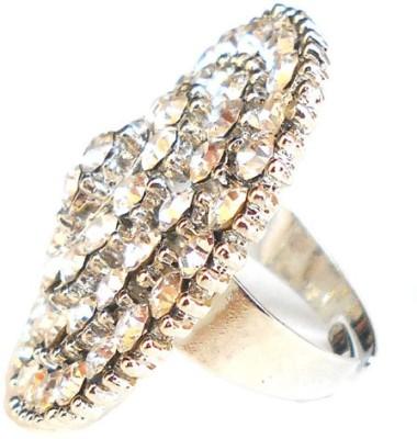 Achal Metal Crystal Rhodium Ring