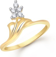 VK Jewels Classy Alloy Cubic Zirconia Yellow Gold Plated Ring