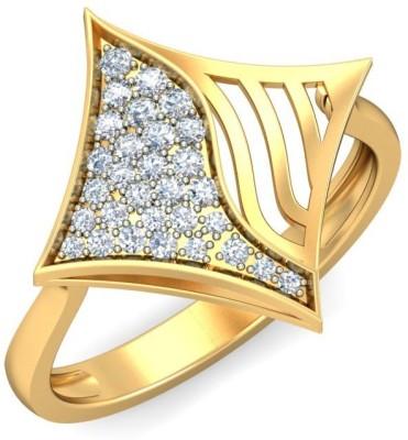 Ornomart Kite Swirl Gold Diamond Ring
