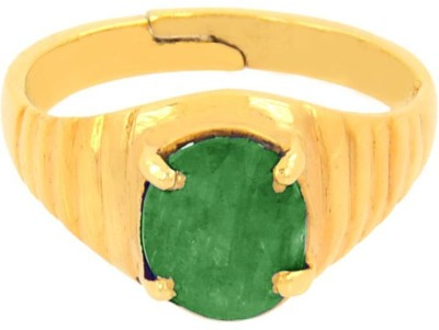 SMS Retail 5.25 Ratti Stone Emerald Copper Plated Ring at flipkart