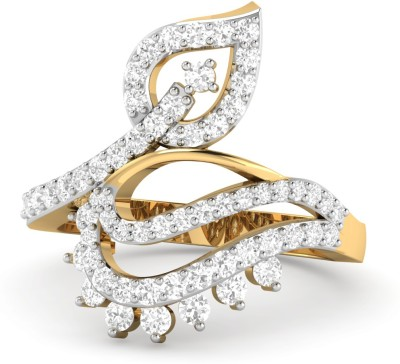 WearYourShine by PC Jewellers The Rythm 18kt Diamond Yellow Gold ring at flipkart