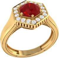 Demira Jewels Sparkling Bead Yellow Gold Ruby, Diamond 14K Yellow Gold Ring best price on Flipkart @ Rs. 21041
