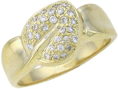 Fullcutdiamond FCDR1891R 18kt Diamond Yellow Gold ring(Yellow Gold Plated) at flipkart