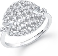 VK Jewels Cocktail Alloy Cubic Zirconia Rhodium Plated Ring