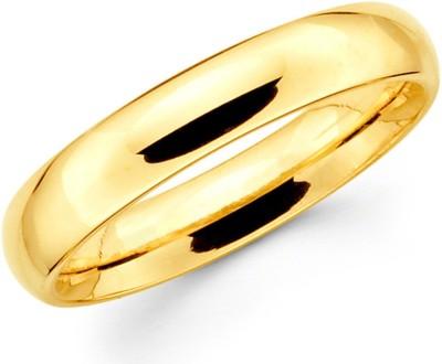 Italian Fashion Love Band Alloy 18K Yellow Gold Ring