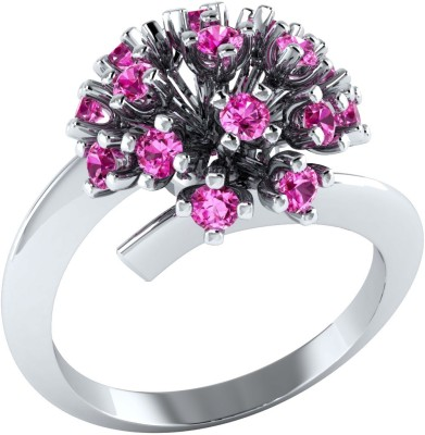 Caratopia Blooming Flora Sterling Silver Sapphire Ring at flipkart