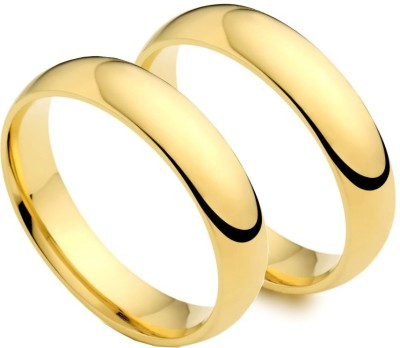 Italian Fashion Love Band Alloy 21K Yellow Gold Ring Set