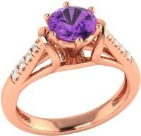 Demira Jewels Dazzling Rose Gold Amethyst, Diamond 14K Rose Gold Ring best price on Flipkart @ Rs. 17769