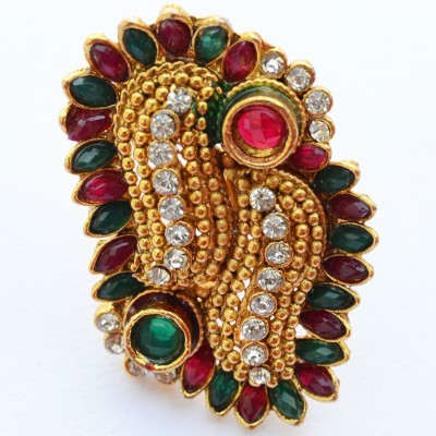 Foppish Mart Brass Beads Brass Ring