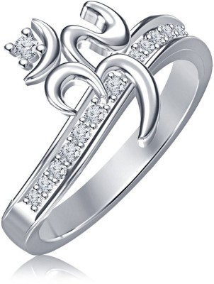 Vorra Fashion New OM Design Sterling Silver Cubic Zirconia Platinum Ring