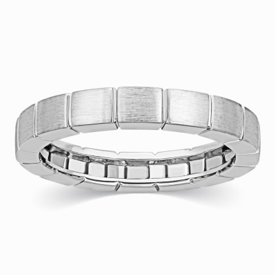 Kama Jewellery Sancia Platinum Couple Band- Her Diamond Platinum ring