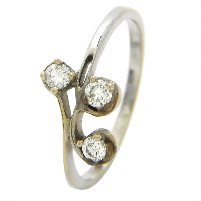 Popleys Popleys Diamond Ids 18kt Diamond White Gold ring