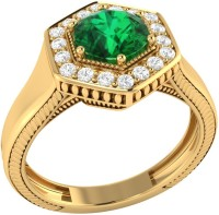 Demira Jewels Sparkling Bead Yellow Gold Emerald, Diamond 14K Yellow Gold Ring best price on Flipkart @ Rs. 21041