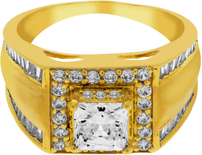 Kalyan Jewellers Siginity Gents Gold Cubic Zirconia 22K Yellow ...