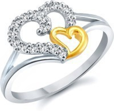 Meenaz Lovely Heart Gold & Rhodium Alloy...