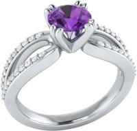 Demira Jewels Solitaire White Gold Amethyst, Diamond 14K White Gold Ring best price on Flipkart @ Rs. 18993