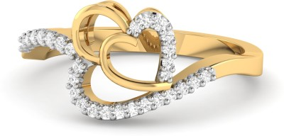 WearYourShine by PC Jewellers The Feerozah 18kt Diamond Yellow Gold ring at flipkart