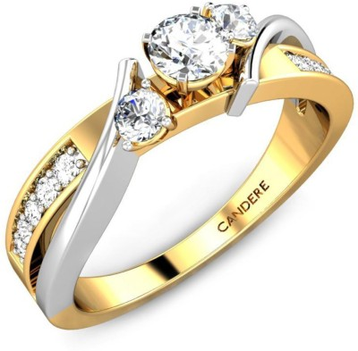 Candere Felicia 14kt Diamond Yellow Gold ring