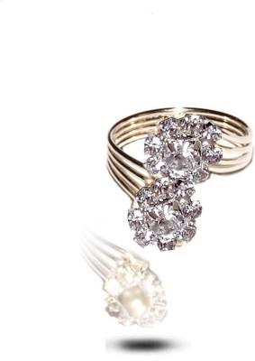 Gajraula Crafts Alloy Crystal Rhodium Ring