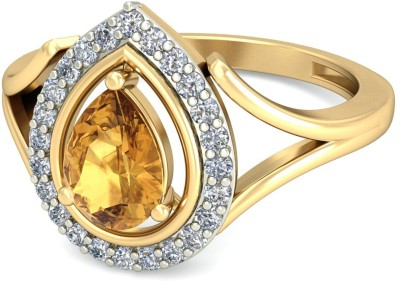 WearYourShine by PC Jewellers The Cadere Diamond 18kt Diamond Yellow Gold ring at flipkart