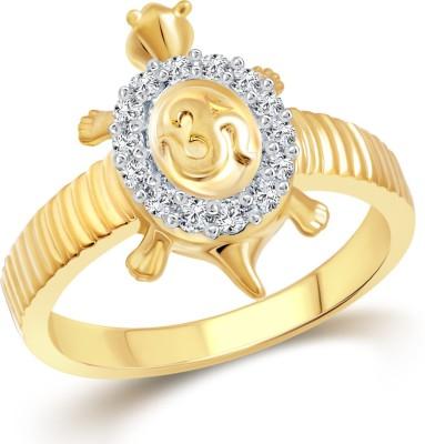 Vighnaharta Om Tortoise for Men Alloy Cubic Zirconia 18K Yellow Gold Plated Ring at flipkart