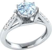 Demira Jewels Dazzling White Gold Aquamarine, Diamond 14K White Gold Ring best price on Flipkart @ Rs. 17769