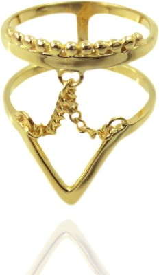 Cheevino Brass Yellow Gold Ring